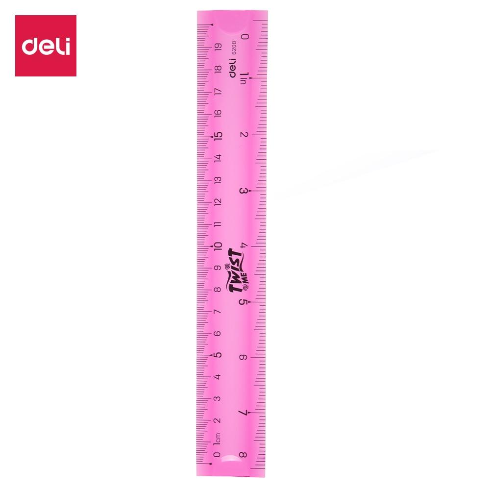 20cm Super Flexible Ruler Stationery Office School Measuring Drawing Tool Random