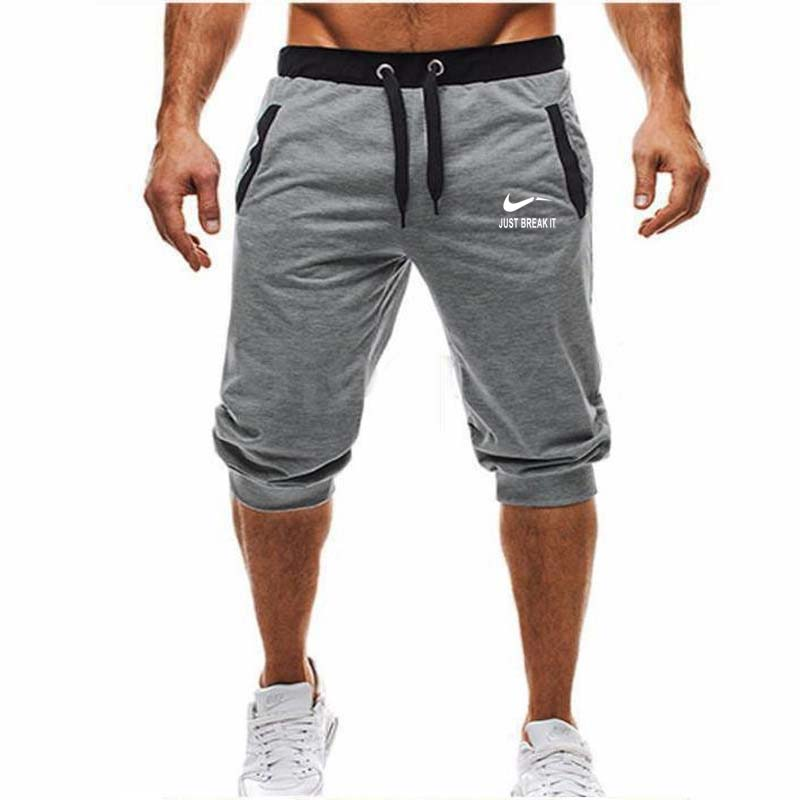 New fashion summer casual men's knee long   shorts   color patchwork only rest IT jogger   short   sweatpants men's Bermuda   shorts