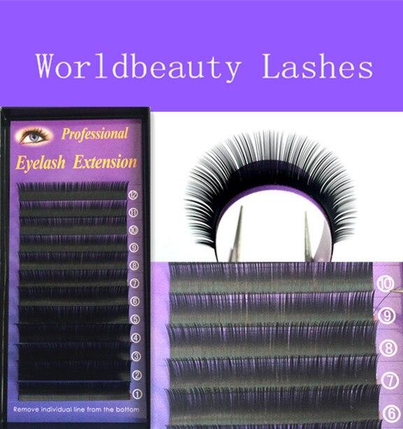 5 Trays Per Lot Korea Silk Individual Fake/False EyeLash Extensions Black color Free shipping