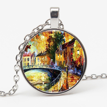 Personality Art Picture Charming Gift Couple Paris Street Romantic Lover Necklace Castle Building Ornament Pendant jewelryXKXLHJ