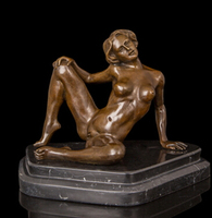 Copper Brass crafts ation Asian Best Selling Wholesale Western Sculpture Bronze statue erotic Woman Belle Temptation Antique Art