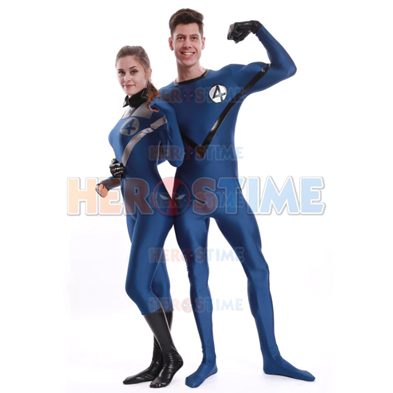 High Quality Adult Mens/Women Fantastic Four Human Torch Cosplay Costumes Male Spandex Lycra Lovers Costume Custom Made Bodysuit