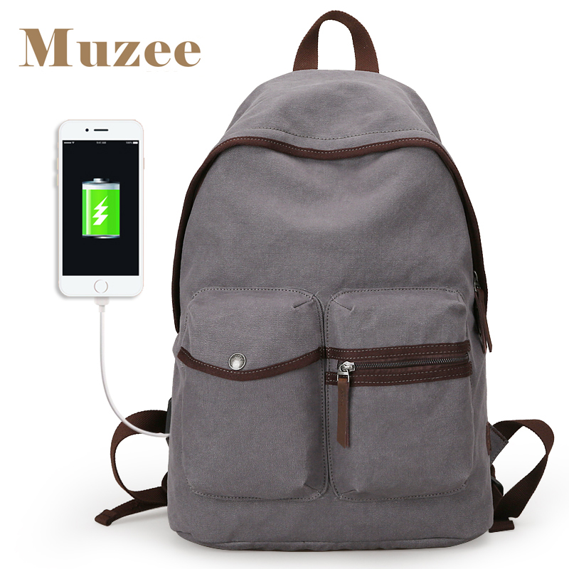 Muzee New Arrival Men Backpack Casual Fashion Student School Backpacks Canvas Large Capacity Laptop Backpacks 8pcs rose gold makeup brushes eye shadow powder blush foundation brush 2pc sponge puff make up brushes pincel maquiagem cosmetic