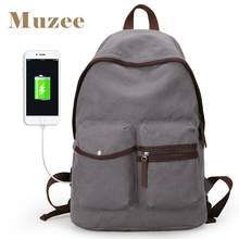 Muzee New Arrival Men Backpack Casual Fashion Student School Backpacks Canvas Large Capacity Laptop Backpacks