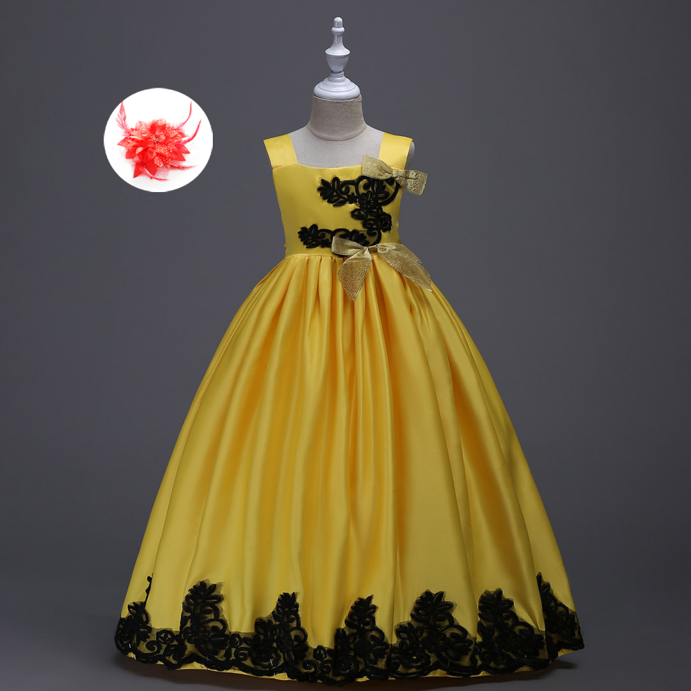 Kids Dresses for Wedding Big Girls Christmas Clothes Red Green Purple Yellow Belle Gown Evening Dress for Girls 5 To 12 Years merida big seven 20 md 18 5 2016 matt red yellow black