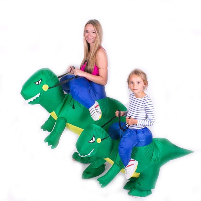 inflatable dinosaur costume fan operated cosplay animal dino rider t rex halloween party fancy costume