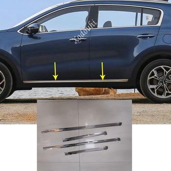 Voor Kia Sportage KX5 2016 2017 2018 auto sticker styling detector rvs side deur lichaam sierlijst molding onderdelen 4pcs