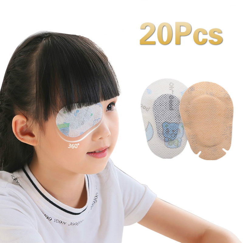20Pcs Breathable  Eye Pad Band Aid Medical Sterile Adhesive Bandages First Aid Kit Children Kids Eye's Film Dressing