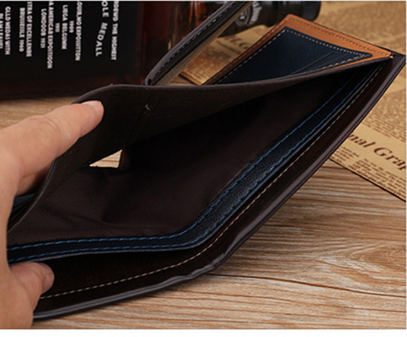 PU Leather Men Wallet Money Bag Credit Card Holders Dollar Bill Wallet Clutch Purse For Boy Use Vintage Purses Wallets Men Walet (5)