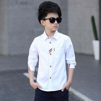 2017 Boys Clothes New Spring Autumn Boys' Cotton Casual Shirts Kids Long Sleeve Shirt Boys Blouses Turn-Down Collar Shirt  3