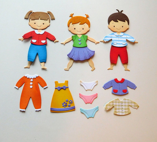 Metal Boy And Girl Body Cutting Diesfor Diy Scrapbooking Paper Card