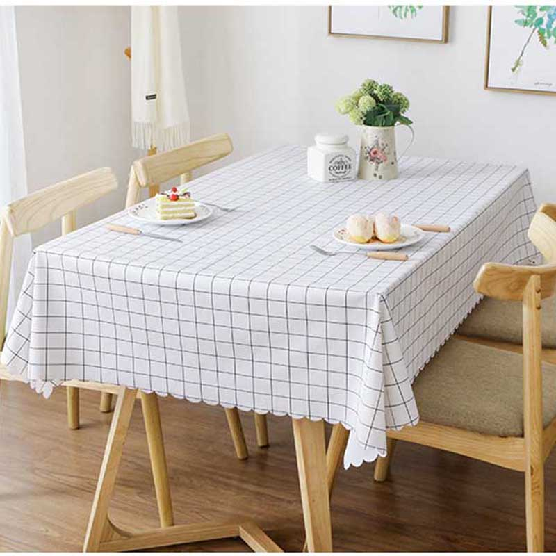 Meijuner Pvc Tablecloth Waterproof Rectangular Table Cloth Plastic