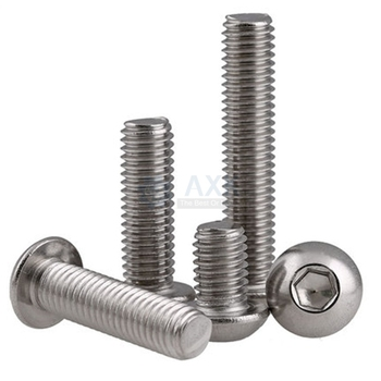 цена на Socket Button Head Screw Axk Stainless Steel 304 Hex Set Round Under 50pcs Lot (10 Pieces/lot) Mushroom Hexagon 10pcs M5 M6