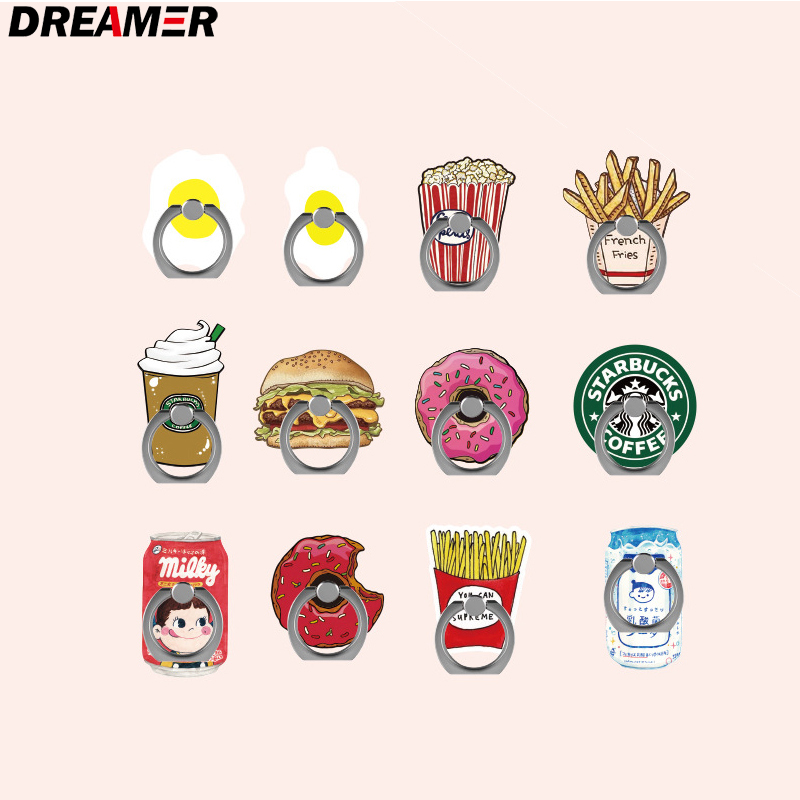 Wholesale Cartoon Universal Socket Mobile Phone Finger Rings Holder For All Phone Expanding Phone Stand Finger Car Phone Holder