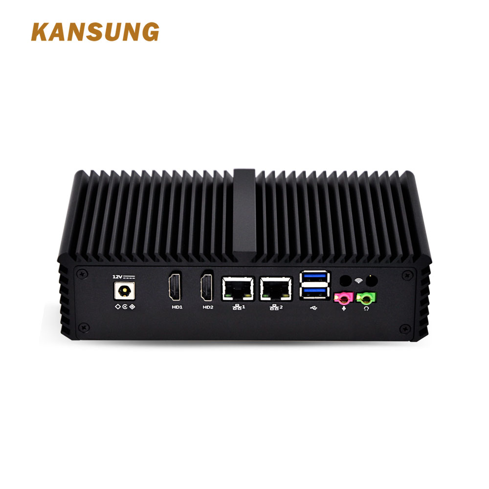 Cheap Mini-Itx OEM Fanless Mini PC 2 LAN Port Intel Core I3 Firewall Industrial PC Fanless Ubuntu Linux Desktop Computer
