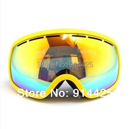 Benice Esquí Gafas de Doble Capa Anti-Vaho Grande Multicolor de Las Mujeres Usar