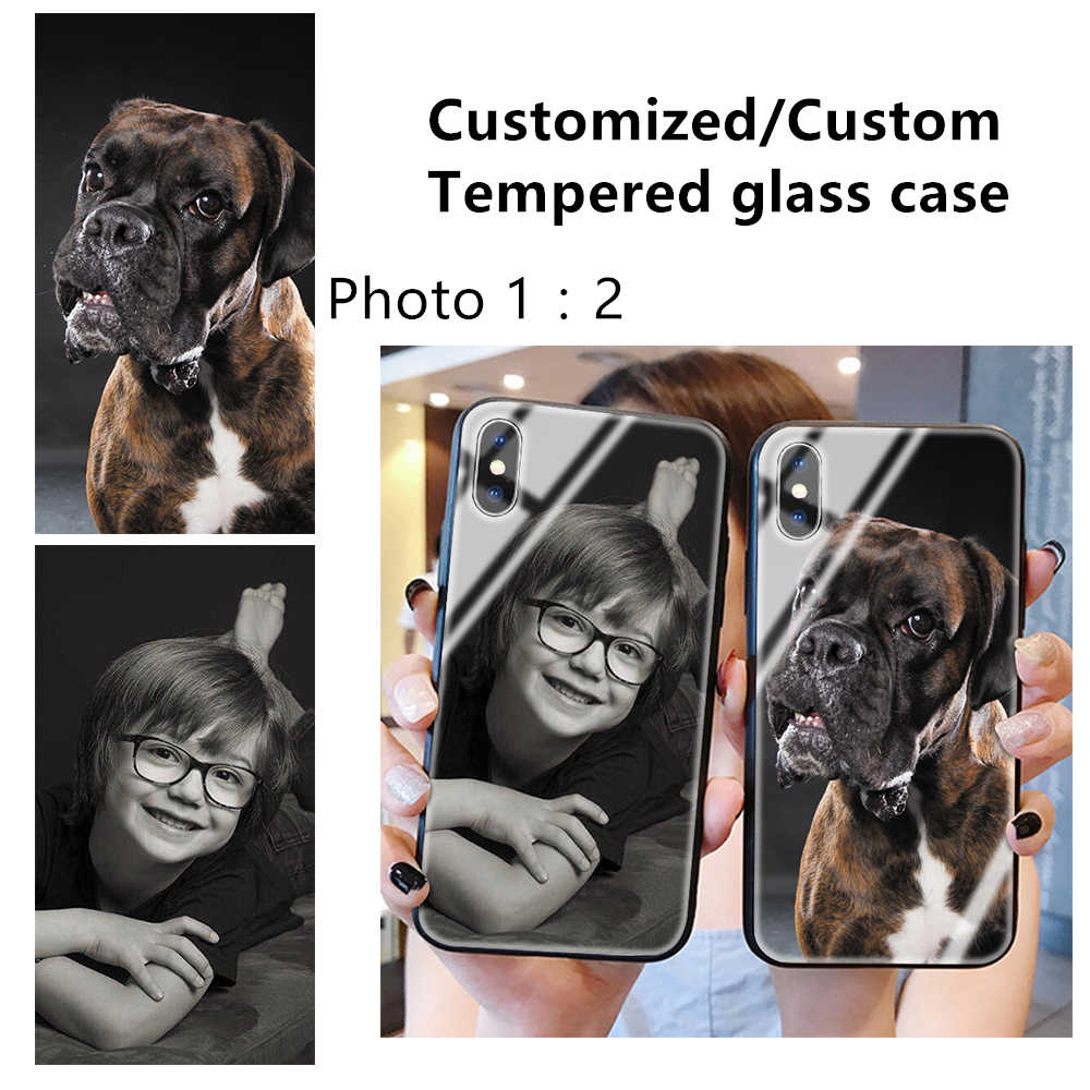 2019 Custom Photo Tempered glass Cases Customized LOGO cover For Apple iPhone 7 7plus 8 6 6S Plus 5 5S X XR XS MAX 11 Pro MAX