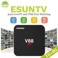 V88 Android ТВ IP коробки ТВ коробке с 1 года esun ТВ настроен Арабский IP ТВ Европа IP ТВ французский италия IP ТВ комплект Topbox