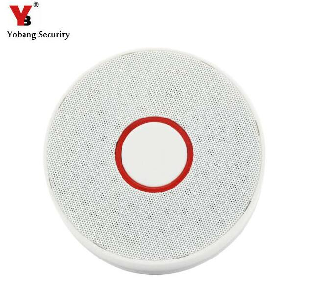 цена на Yobang Security-Battery-Operated Smoke Sensor Fire Protection Alarm Indepedent Smoke Detector for Home Protection
