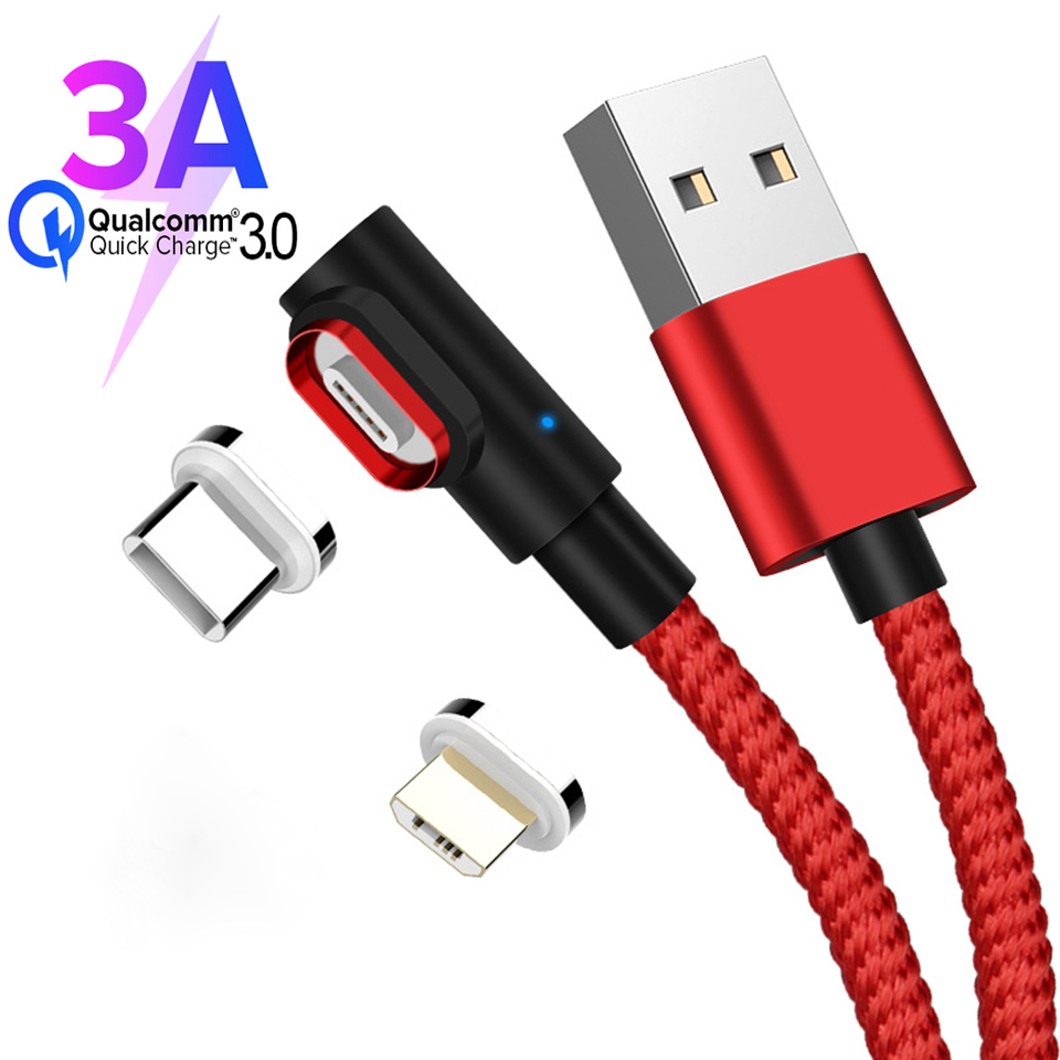 Type C Magnetic Cable 3A Micro Usb Fast Charge Data Android Cable for Samsung A50 A70