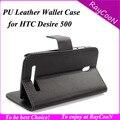Новые Прибытия Для HTC Desire 500 ПУ кожаный бумажник случае, для HTC500 Крышка