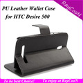 New Arrival For HTC Desire 500 PU leather wallet case, For HTC500 Cover