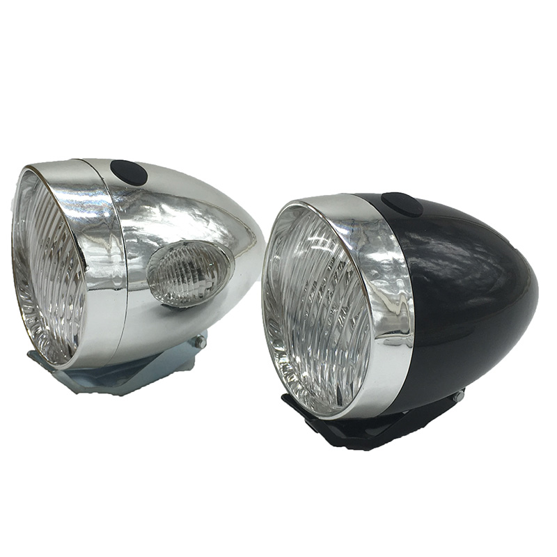 Vintage Automobile Front Center With One Headlight : Retro classic vintage bicycle bike light led front