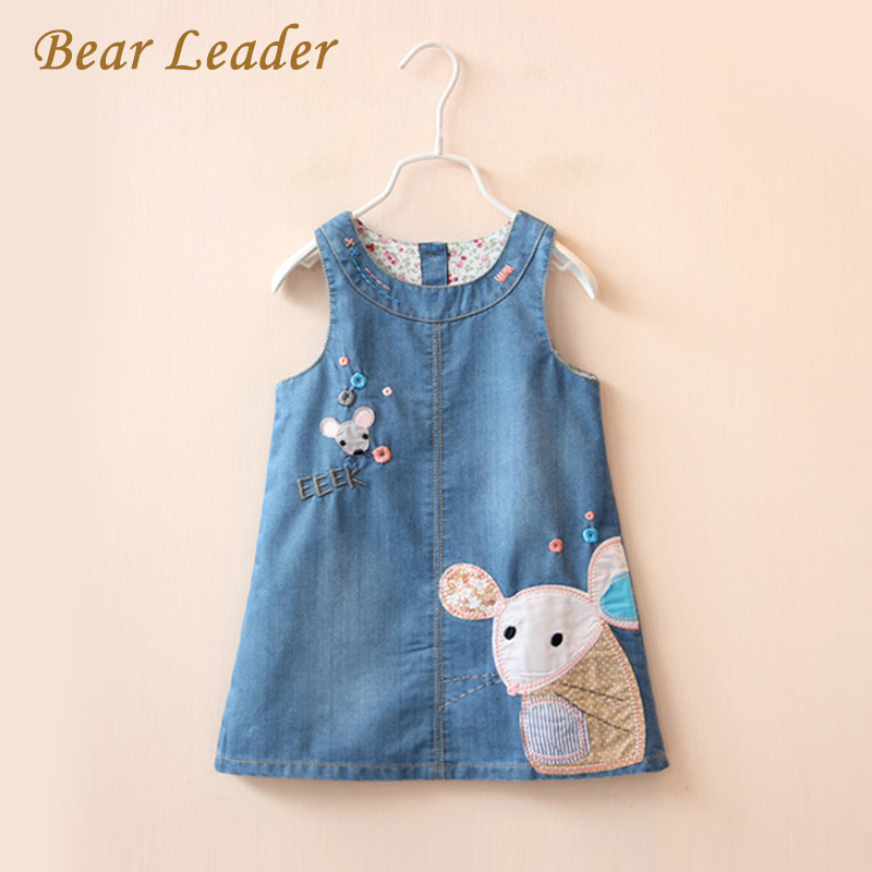 Bear Leader Girls Dress 2017 New Spring Embroidery Strap Kids Dress Cartoon Outwear Cute High Quality Girls Clothes 3-7Y new language leader elementary coursebook with myenglishlab