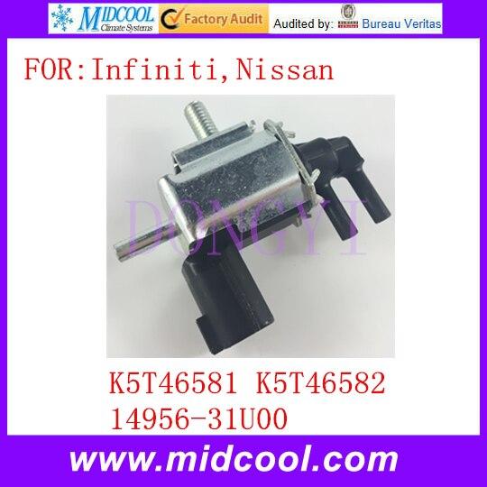 New EGR Vacuum Switch Valve Solenoid OEM K5T46581 K5T46582 14956-31U00 For Infiniti Nissan