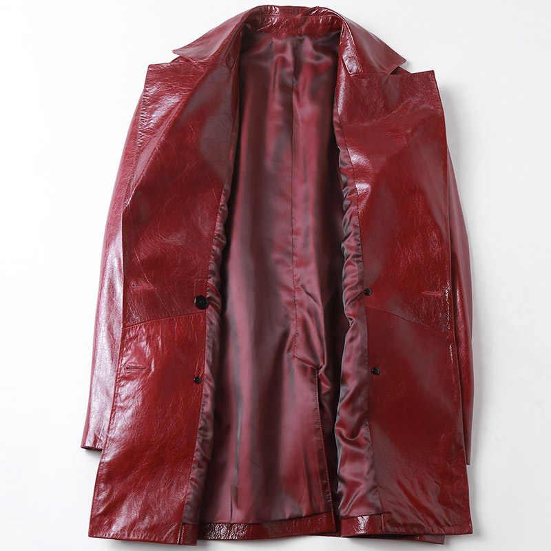Женское пальто из настоящего меха, куртка из натуральной кожи, женская одежда 2019, корейское винтажное пальто из овчины, женские топы, TP19030501A ZT2879