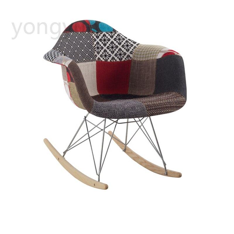 Freizeit Minimalistischen Modernen Zimmer Möbel Mode Wohnzimmer Balkon Stuhl Lässig Tuch Holz Bein Tuch Schaukelstuhl Um Eine Reibungslose üBertragung Zu GewäHrleisten