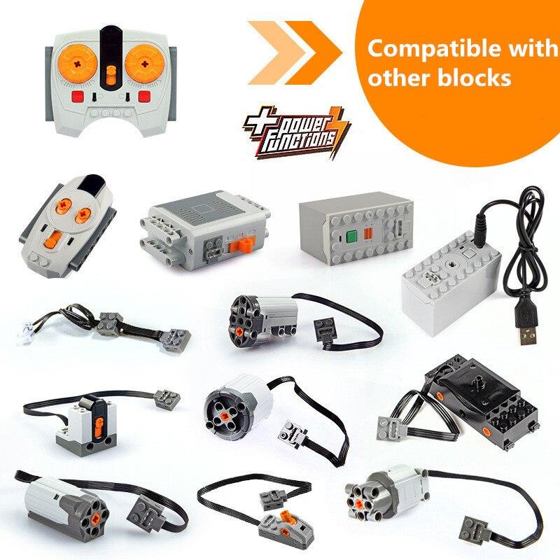 Série Technic Blocos Peças Compatível Legoings Interruptor Caixa De Bateria Led de Energia de Luz de Controle Remoto Trem Conjuntos de Kits de Construção