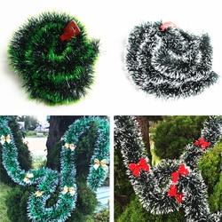200 cm Christmas Decor Mall Bar Tops Ribbon Garland Streamers Christmas Tree Ornaments White Green Cane Tinsel Party Supplies 1