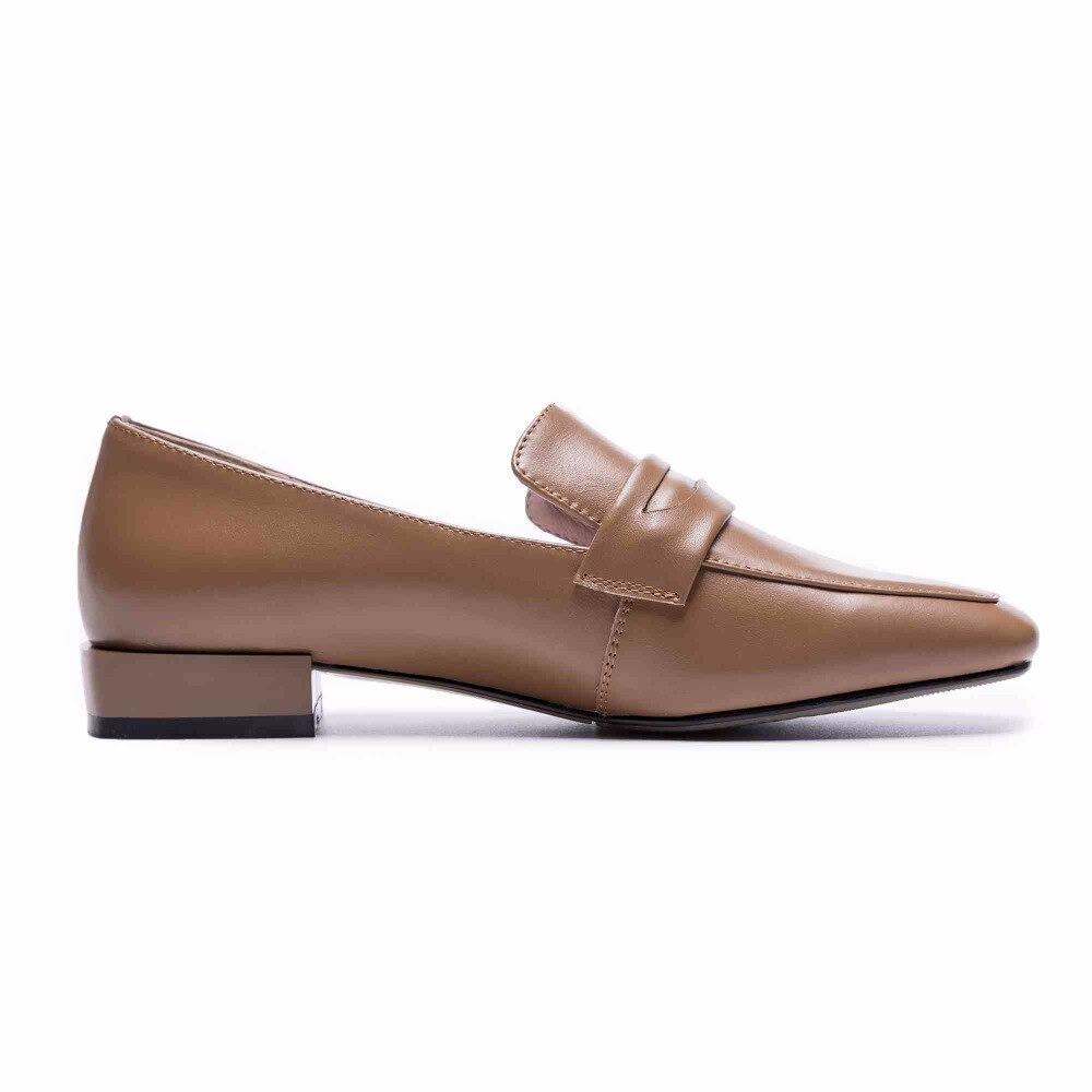 Krazing topf full grain leder gladiator mode schuhe frauen low heels frauen plus größe fahr feste farbe schwangere schuhe L75-in Damenpumps aus Schuhe bei  Gruppe 3