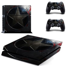 Captain America PS4 Skin Sticker Decal Cover for PS4 Playstation 4 System Console and Controllers