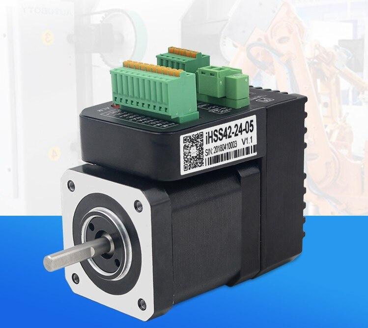 New Integrated step servo motors NEMA 17 IHSS42 24 05 output 0 48NM with 1000 lines