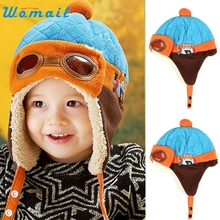 WOMAIL нежный 2017 Мода Дети Осень Мальчики Зима Теплая Cap Hat Шапочка Пилот Вязание Earflap Шляпы W7
