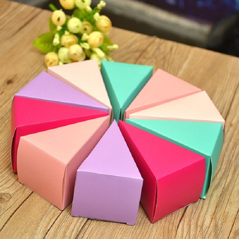 Candy Box Bag Chocolate Paper Gift Box Cake Shaped For