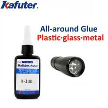 купить Kafuter 50g K-3181 All-around UV glue acrylic adhesive transparent plastic metal glass uv glue with uv cutting light по цене 854.02 рублей