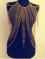 FREE SHIPPING New Style B622 Women Fashion Gold Chains Necklace Sexy Layers Full Longer Body Chains