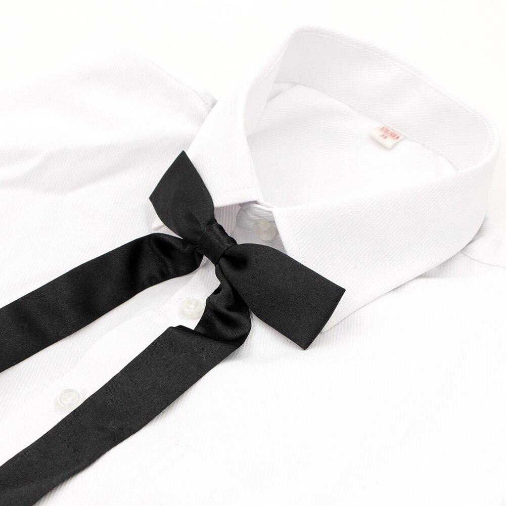 2018 Veektie Women Necktie For Sailor Suit Shirt Zipper Bowtie Jk Style Lovely Bow Tie School Uniform Stundet Butterfly Black Apparel Accessories
