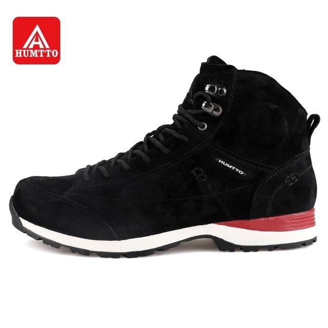 1b5a3131a HUMTTO Женская походная обувь зимние Трекинговые ботинки уличные спортивные  высокие туфли кожаные на шнуровке плюс бархатные
