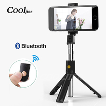 COOLJIER 2019 new Wireless Bluetooth Selfie Stick Extendable Monopod 3 in 1 Universal Mini Tripod For iPhone XR X 8 7 6s