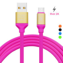 Soft TPE Micro USB Cable Fast Charger Mobile Phone Android USB Cable for Xiaomi For HTC For LG For Samsung Android Phones