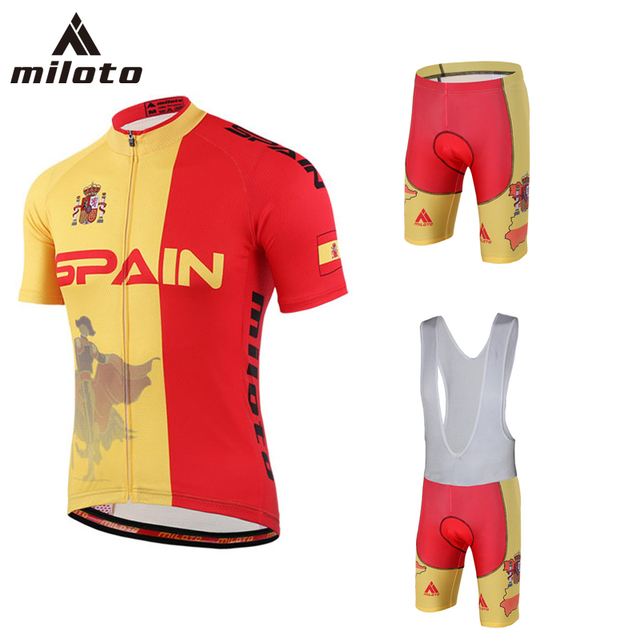 2018 New SPAIN Cycling Jersey Sets Men Short Jersey Ropa De Ciclismo  Maillot Cycling Clothes Sports Cycling Bicycle MTB Clothes 0bf667cc6