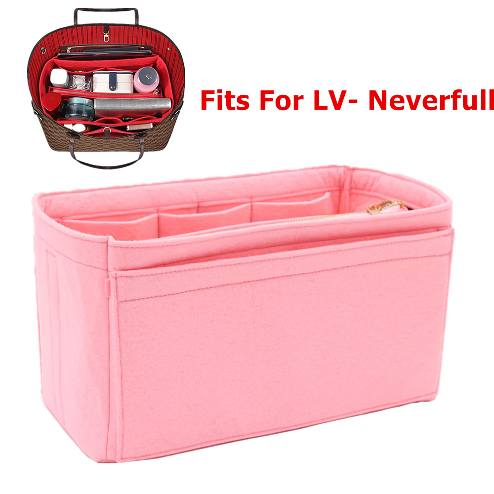 Fits For Never Full MM GM felt cloth light insert bag organizer make up handbag travel inner purse portable mommy  cosmetic  bagFits For Never Full MM GM felt cloth light insert bag organizer make up handbag travel inner purse portable mommy  cosmetic  bag