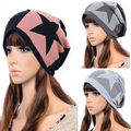 Hot Womens Mens Unisex Note Stars Hip-hop Knit Ski Baggy Beanie Cotton Hats Cap