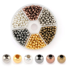 4mm colorful metal beads round Iron Loose spacer for necklace bracelet DIY  Jewelry Making Accessories 948PCS/box