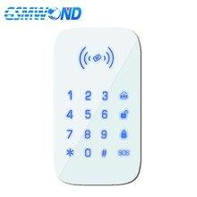 GSMWOND беспроводная клавиатура 433 МГц с сенсорной клавиатурой установка 1,5 в AAA батареи для наших PG103/W2B WIfi GSM домашняя охранная сигнализация