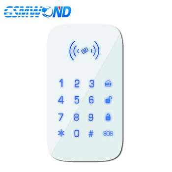 GSMWOND Wireless Keyboard 433MHz Touch Keypad Install 1.5V AAA Battery  For Our PG103 / W2B WIfi GSM Home Burglar Alarm System - DISCOUNT ITEM  20% OFF All Category